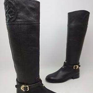Tory Burch - Marlene black leather riding boot